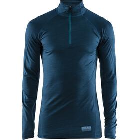 Craft Merino Lightweight Zip Shirt Herr fjord